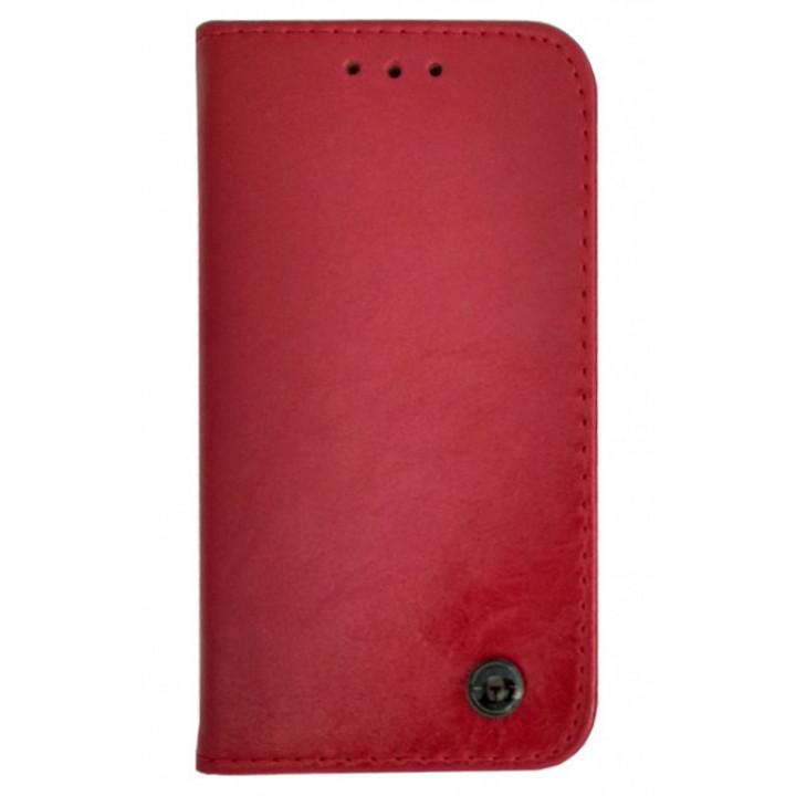 Чехол-книга для BlackBerry Q10 красный с эмблемой