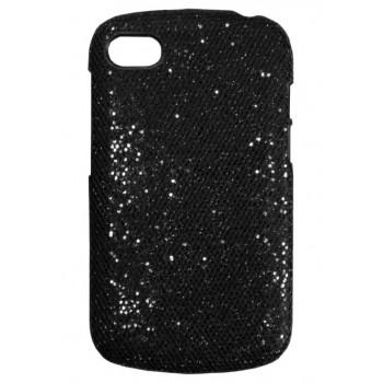 Чехол-крышка для BlackBerry Q10 черный с блестками