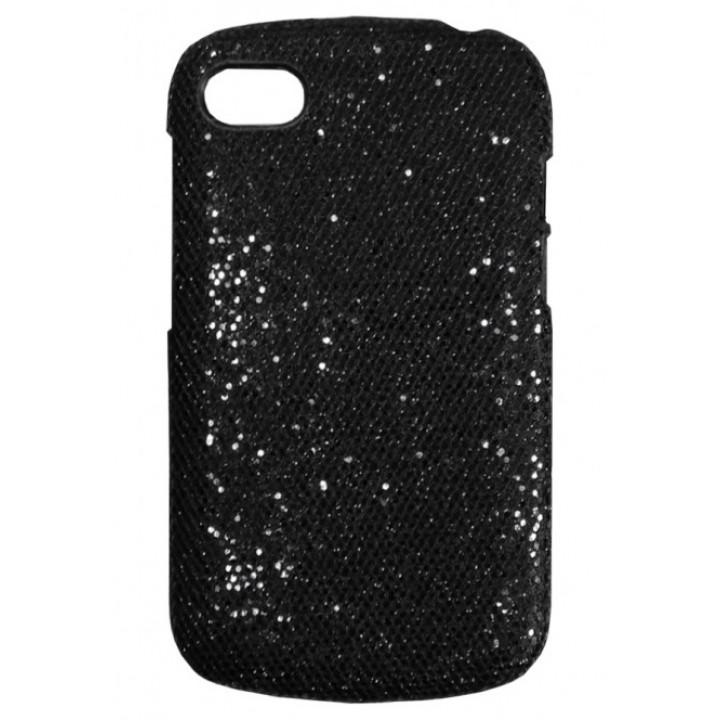 Чехол-крышка для BlackBerry Q10 черный с блесками