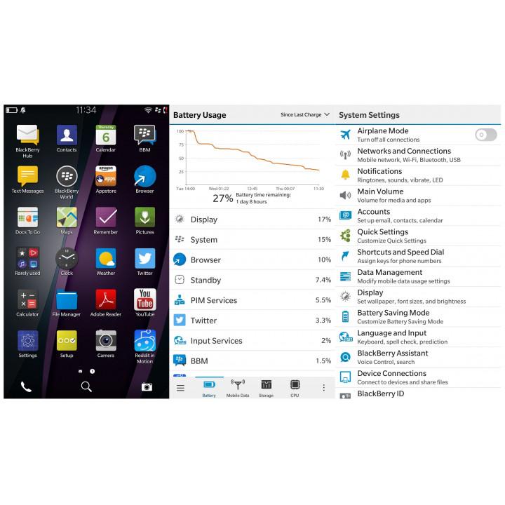 Завершение настройки устройств на BlackBerry OS10