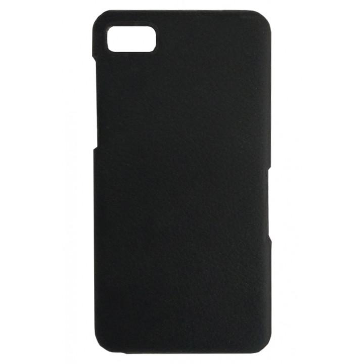 Кожаный чехол-крышка для BlackBerry Z10 черный