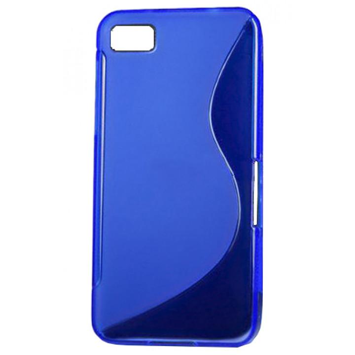 Чехол-крышка для BlackBerry Z10 силиконовый синий