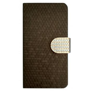 Чехол для BlackBerry Z30 коричневый со стразами