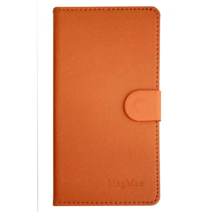 Чехол-книга для BlackBerry Z30 оранжевый