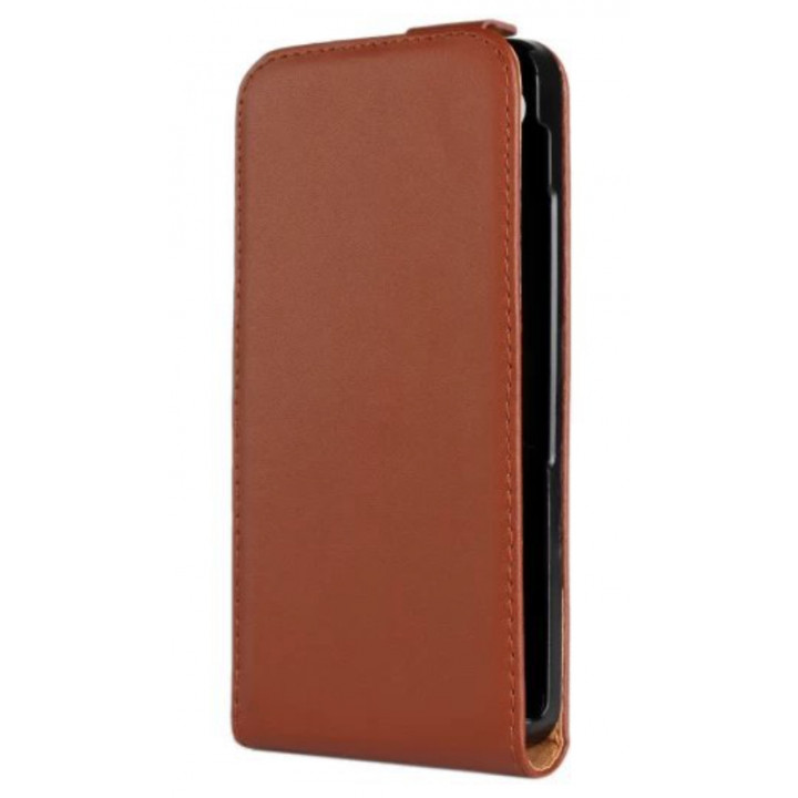 Чехол-флип кожаный для BlackBerry Z30 коричневый