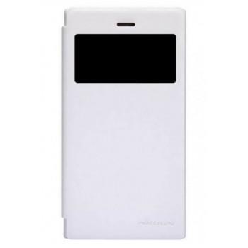 Чехол-книга с окном для BlackBerry Z3 белый